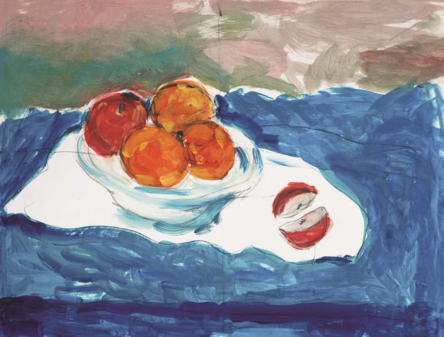 Still life on a blue background